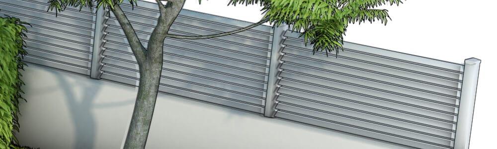 Clôture et portail en PVC
