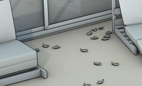 Plancher et revêtement de sol extérieur en PVC dans le bâtiment